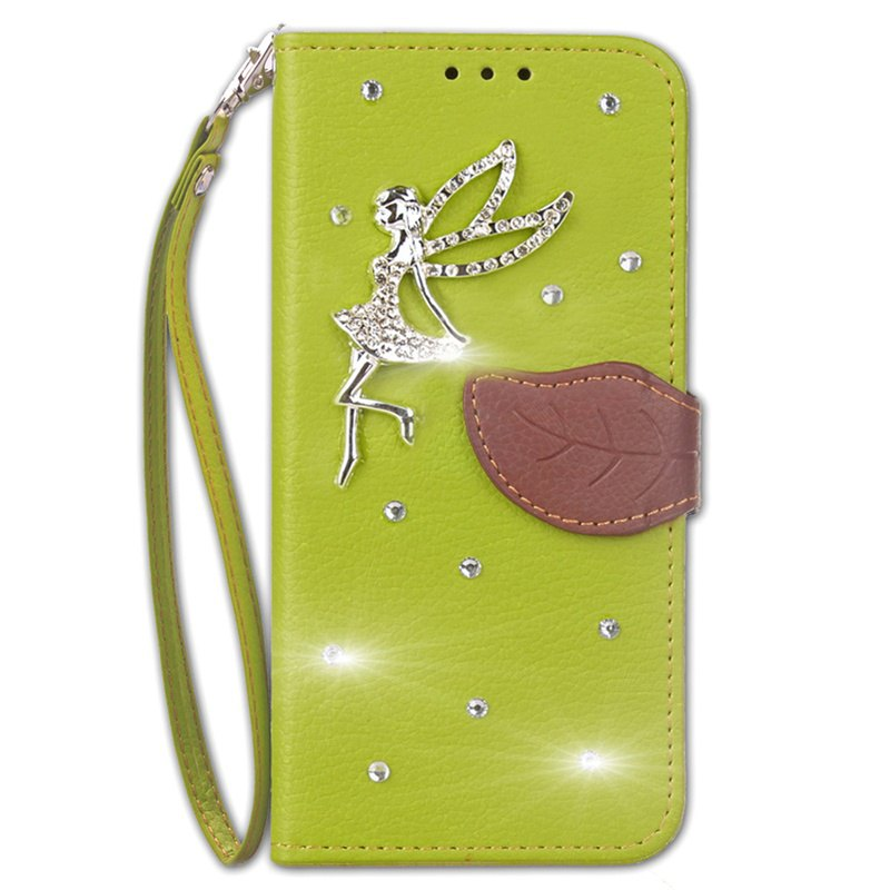 New Leaf Stick Drill Card Lanyard Pu Leather for Redmi Note 5A