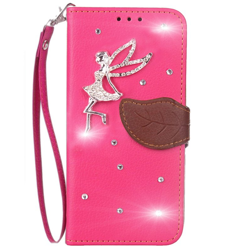 Unique Leaf Stick Drill Card Lanyard Pu Leather for Redmi Note 5A