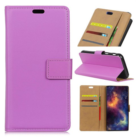 Buy Wkae Solid Color Slim Pattern PU Leather Wallet Stand Case for Huawei Honor 6S / 6C