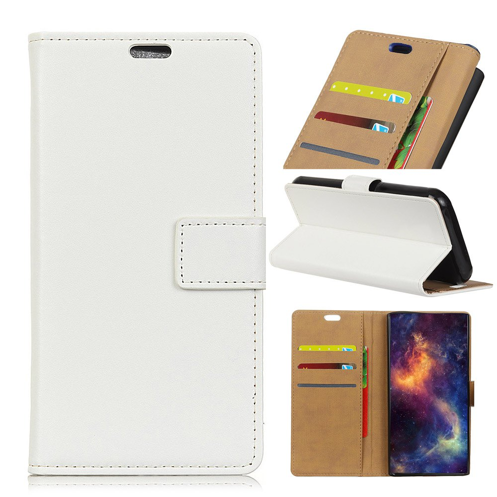 Latest Wkae Solid Color Slim Pattern PU Leather Wallet Stand Case for Huawei Honor 6S / 6C