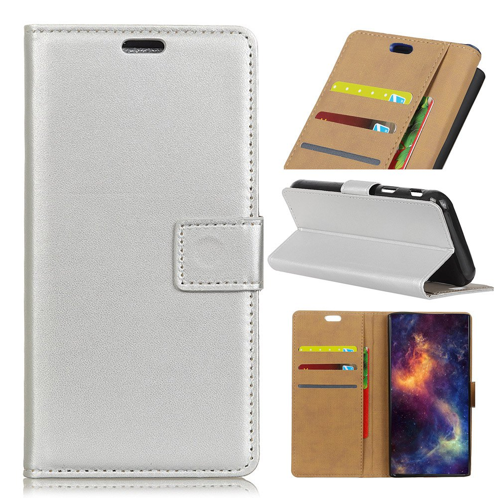 Shop Wkae Solid Color Slim Pattern PU Leather Wallet Stand Case for Huawei Honor 6S / 6C