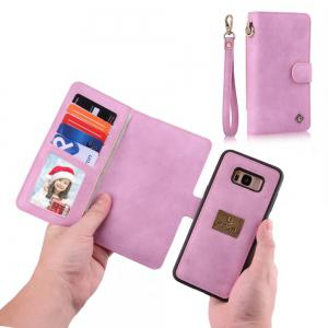 Wkae Multi-Functional High Quality Fabric Leather Wallet Case for Samsung Galaxy S8 Plus -