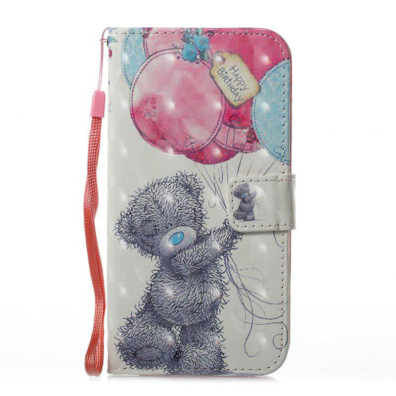 Outfits Wkae 3D Stereo Painted Leather Case Cover for Samsung Galaxy S7 Edge