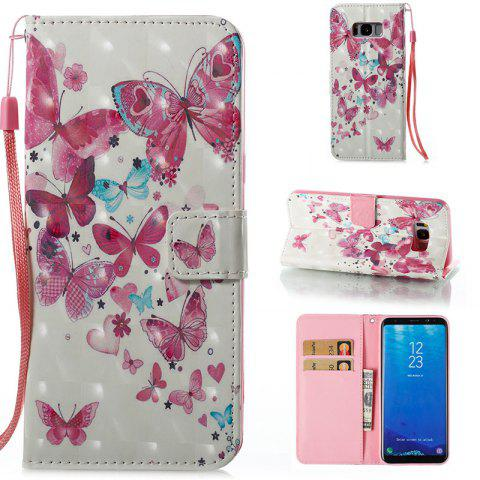 New Wkae 3D Stereo Painted Leather Case Cover for Samsung Galaxy S8 Plus