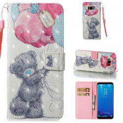 Wkae 3D Stereo Painted Leather Case Cover for Samsung Galaxy S8 Plus -
