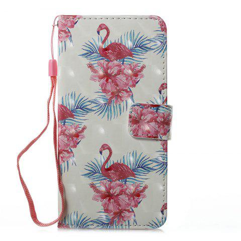 Online Wkae 3D Stereo Painted Leather Case Cover for Huawei P8 Lite 2017