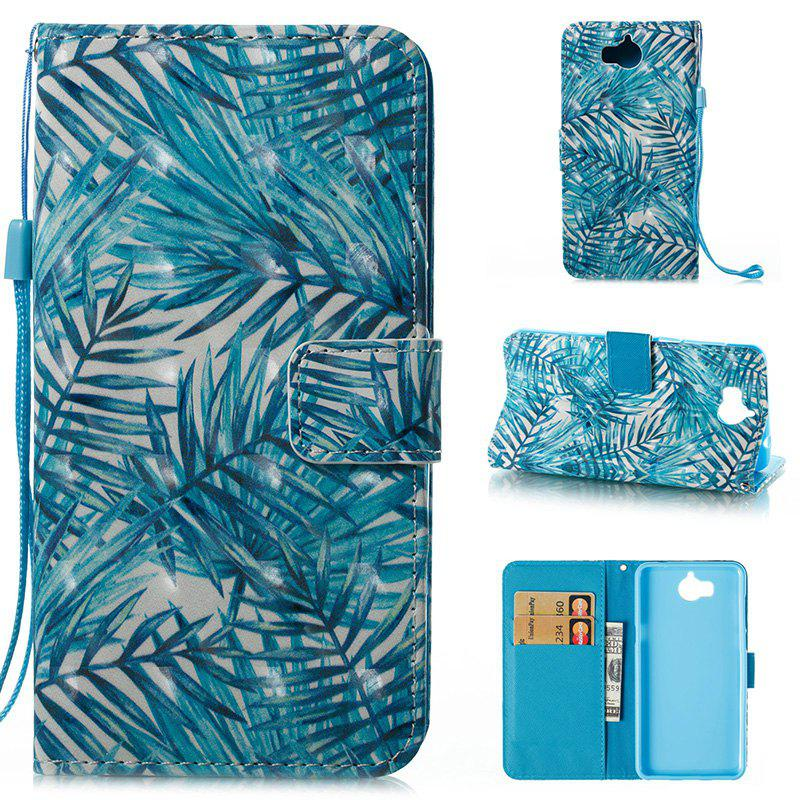 Cheap Wkae 3D Stereo Painted Leather Case Cover for Huawei Y5 2017 / Y6 2017
