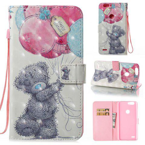 Sale Wkae 3D Stereo Painted Leather Case Cover for ZTE Z982