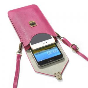 Wkae Vertical Dual Layer Shoulder Case Bag for Mobile Phone 6.3 Inch -