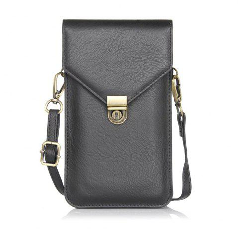 Unique Wkae Vertical Dual Layer Shoulder Case Bag for Mobile Phone 6.3 Inch