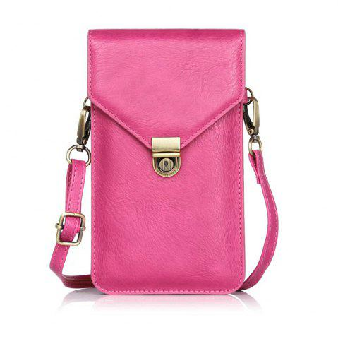 Trendy Wkae Vertical Dual Layer Shoulder Case Bag for Mobile Phone 6.3 Inch
