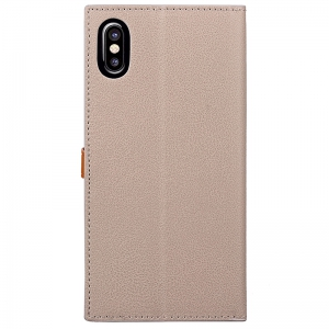 Wkae Fine Buckle Business Leather Case Cover And Kickstand for IPhone X -