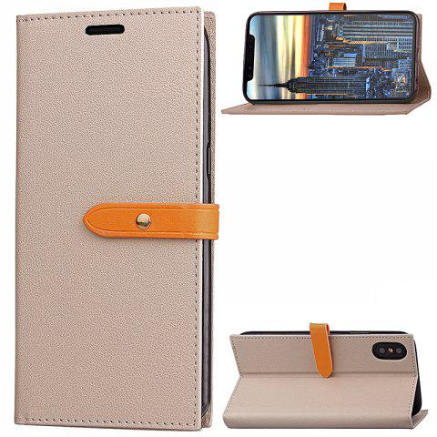 Unique Wkae Fine Buckle Business Leather Case Cover And Kickstand for IPhone X