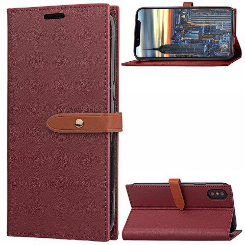 New Wkae Fine Buckle Business Leather Case Cover And Kickstand for IPhone X