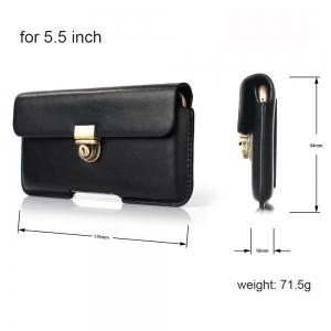 Wkae Horizontal Flip Belt Case Bag for Mobile Phone 5.5 Inch -