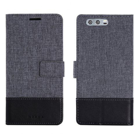 Chic Durable Canvas Design Flip PU Leather Wallet Case for Huawei Honor 9