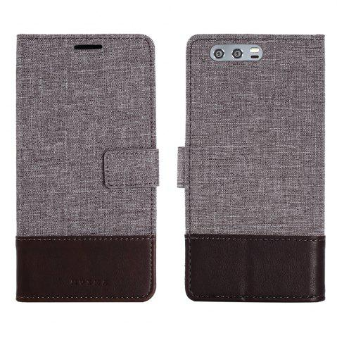 Fancy Durable Canvas Design Flip PU Leather Wallet Case for Huawei Honor 9