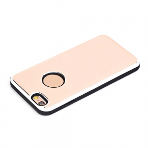 TPU Metal Back Shockproof Anti-Scratch Cover Case for IPhone 6 Plus / 6S Plus -