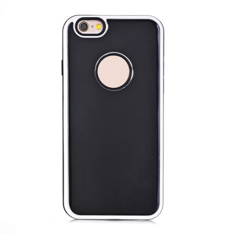 Fashion TPU Metal Back Shockproof Anti-Scratch Cover Case for IPhone 6 Plus / 6S Plus