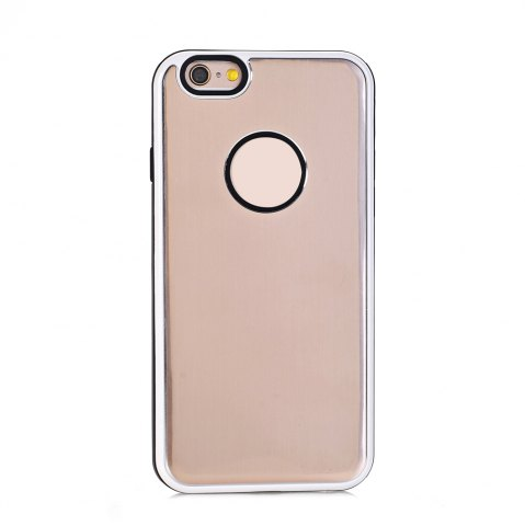 Fancy TPU Metal Back Shockproof Anti-Scratch Cover Case for IPhone 6 Plus / 6S Plus