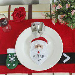 WS 0210 Santa Claus Snowman Reindeer with Pocket Party Christmas Table Decoration Tableware -