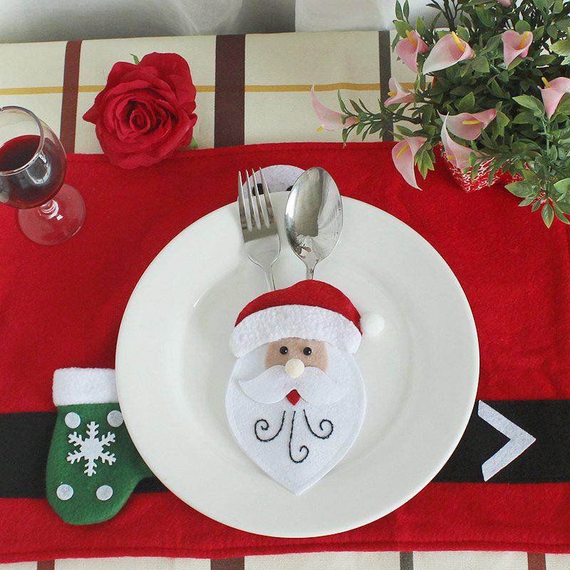 WS 0210 Santa Claus Snowman Reindeer with Pocket Party Christmas Table Decoration TablewareHOME<br><br>Color: OLD MAN;