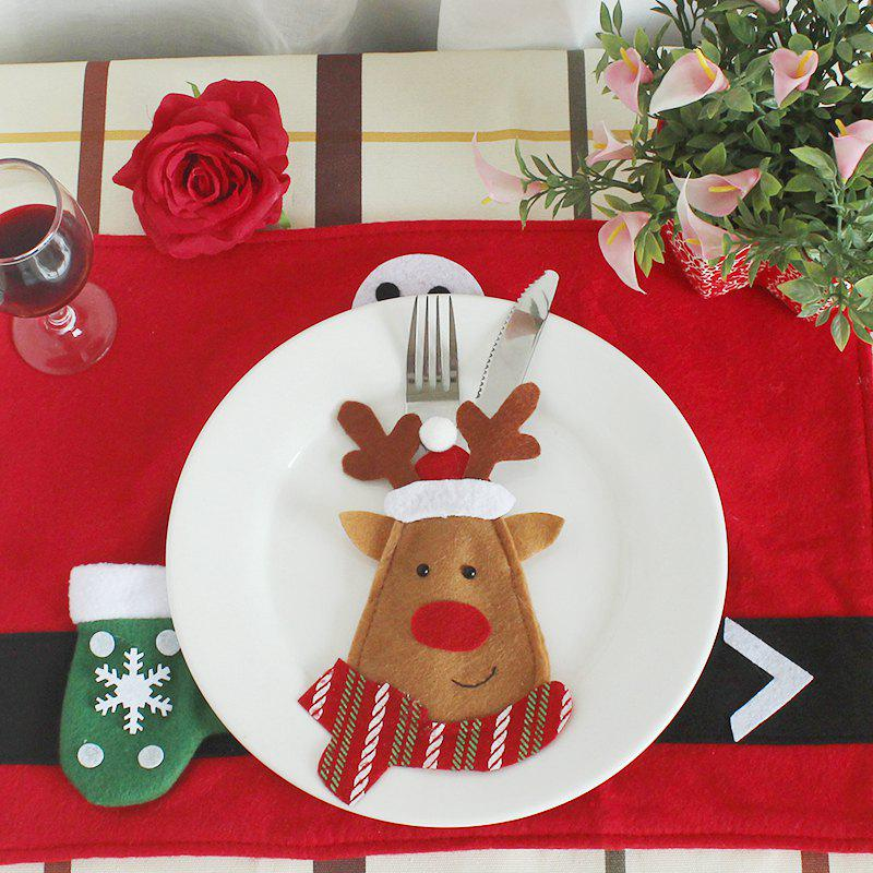 WS 0210 Santa Claus Snowman Reindeer with Pocket Party Christmas Table Decoration TablewareHOME<br><br>Color: LITTLE FAWN;