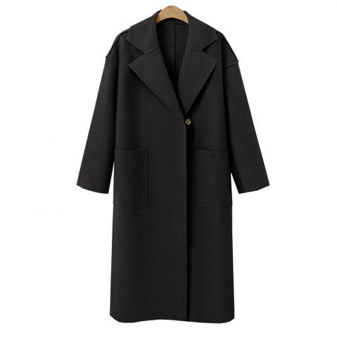 Chic Autumn and Winter Solid Cashmere Coat