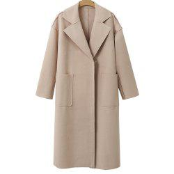 Autumn and Winter Solid Cashmere Coat -