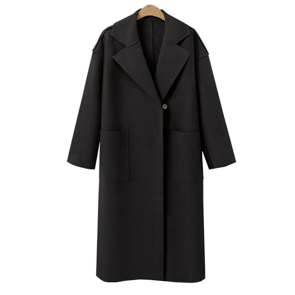 Sale Autumn and Winter Solid Cashmere Coat