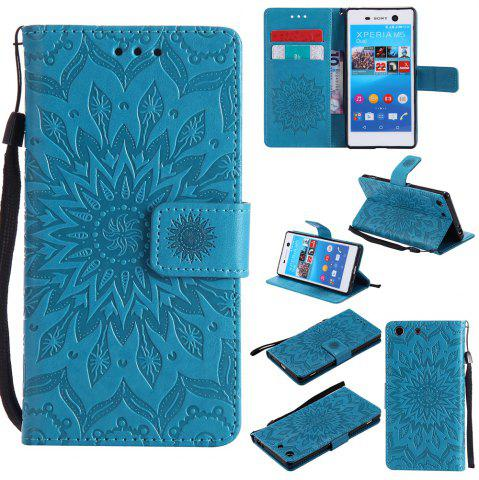Buy Sun Flower Printing Design Pu Leather Flip Wallet Lanyard Protective Case for Sony Xperia M5