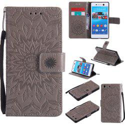 Sun Flower Printing Design Pu Leather Flip Wallet Lanyard Защитный чехол для Sony Xperia M5 -