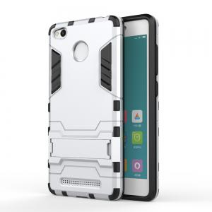 Dual Layer Armor Defender Shockproof Protective Hard Case With Stand for Xiaomi Redmi 3 Pro / 3S -