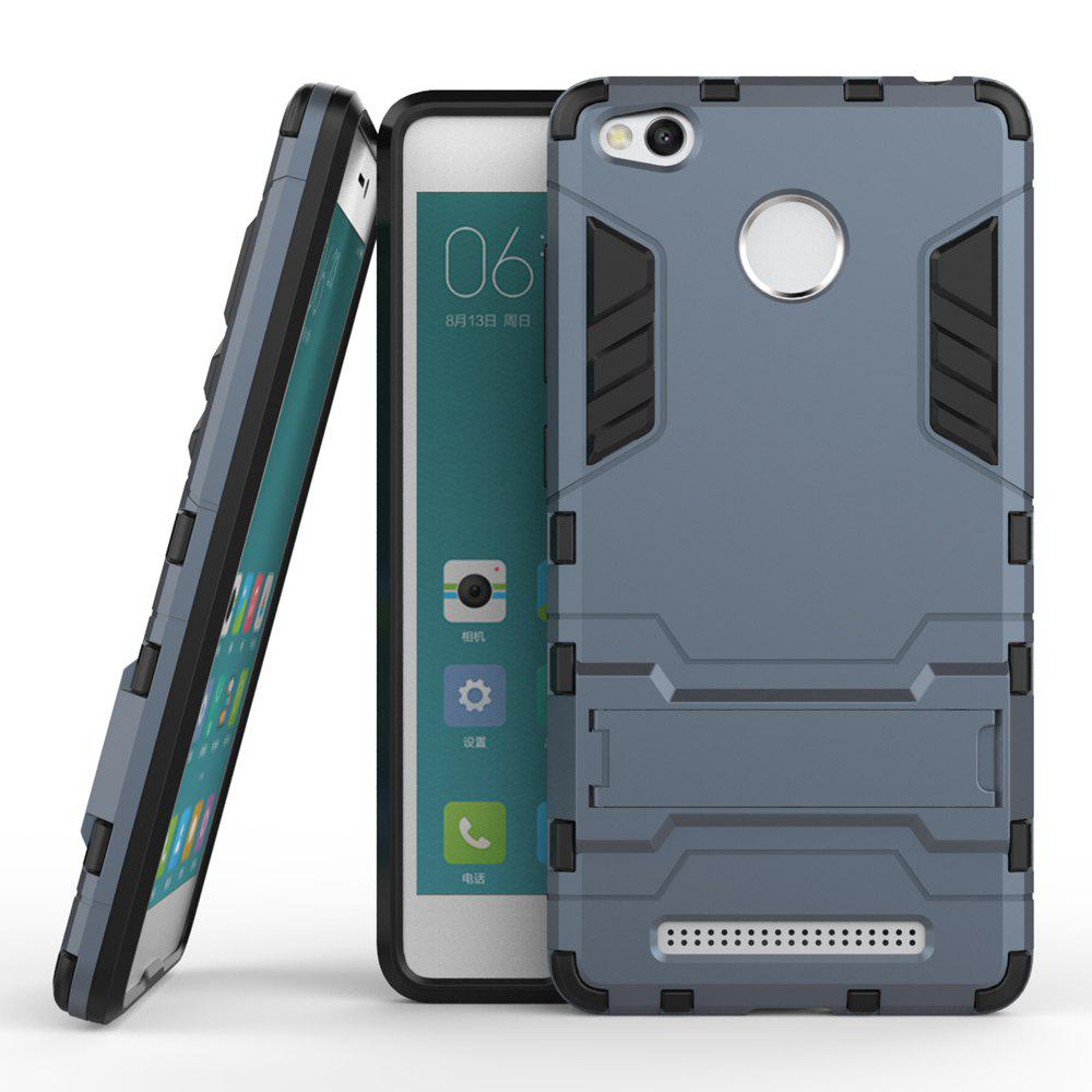 Dual Layer Armor Defender Shockproof Protective Hard Case With Stand for Xiaomi Redmi 3 Pro / 3SHOME<br><br>Color: DEEP BLUE;