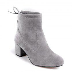 Women's Shoes Fashion Boots Chunky Heel Round Toe Booties Lace-up Casual -