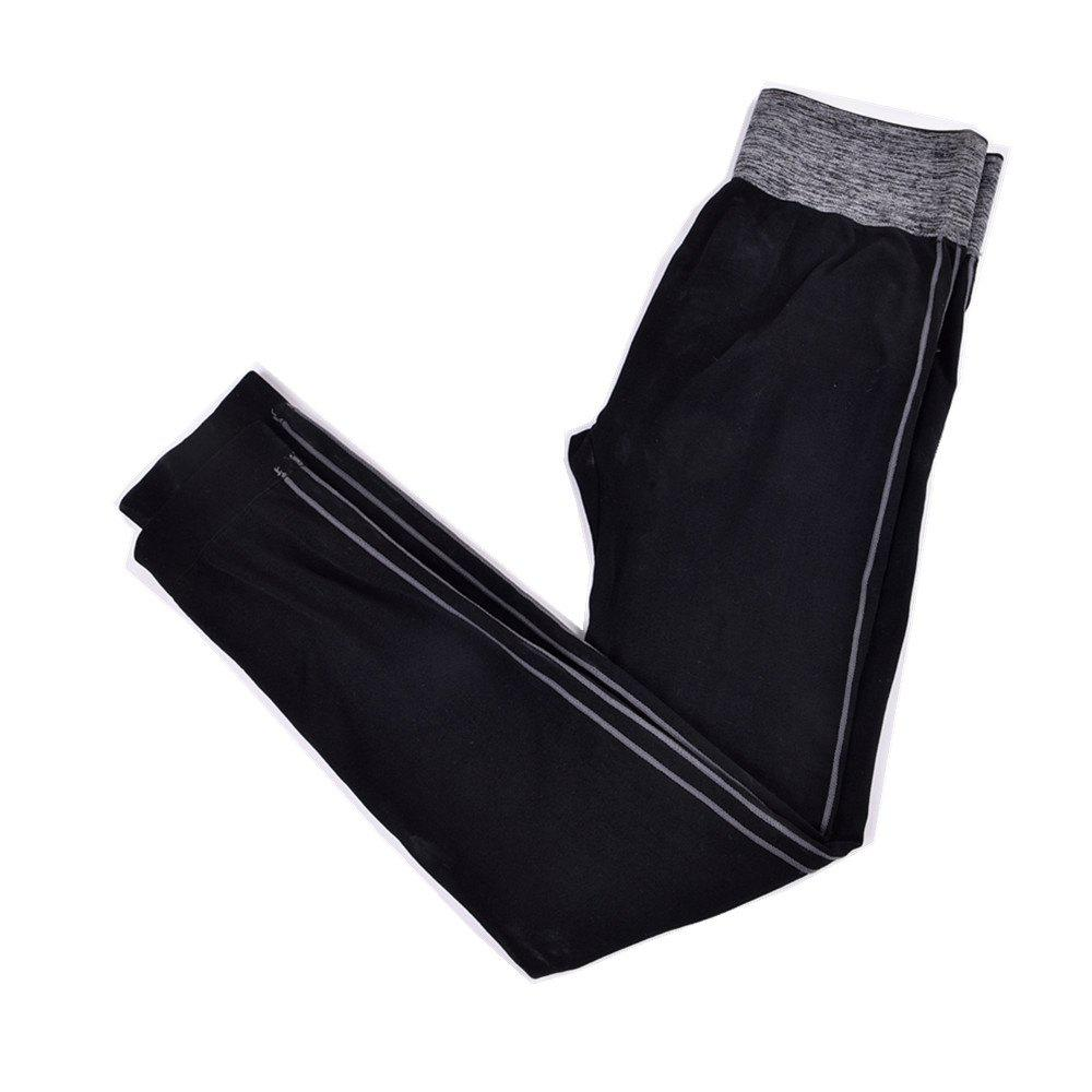 2017 Fashion Womens Running Sports Pants Breathable Seamless FabricWOMEN<br><br>Size: ONE SIZE; Color: BLACK GREY;