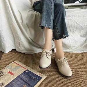 Autumn Thick Bottom England Preppy Chic Leather Students Leisure Single Shoes Girl -