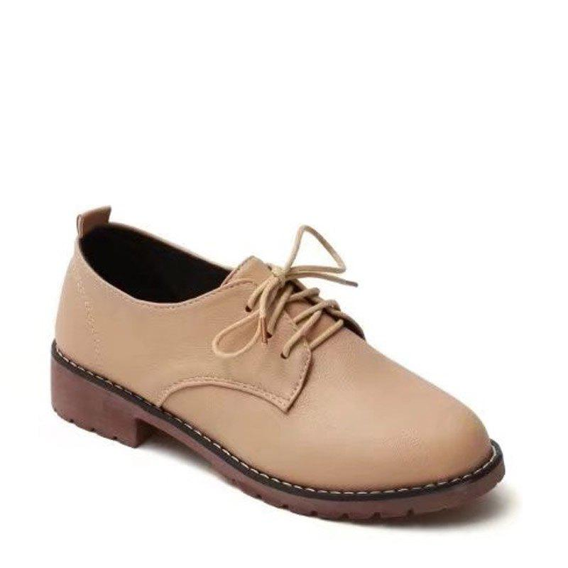 Hot Autumn Thick Bottom England Preppy Chic Leather Students Leisure Single Shoes Girl
