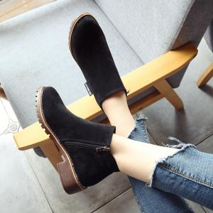 Winter New British Style Martin Short Boots Fashion Women's Shoes -