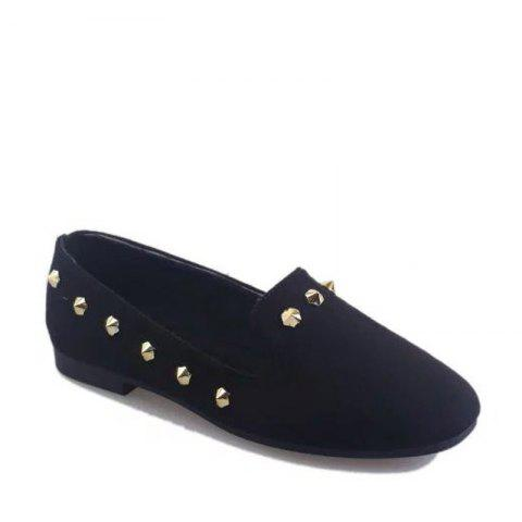 Chic New Style Fashion Rivet Flat Keel Moccasin-Gommino Women Shoe