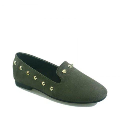 Store New Style Fashion Rivet Flat Keel Moccasin-Gommino Women Shoe