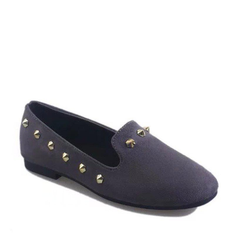 Trendy New Style Fashion Rivet Flat Keel Moccasin-Gommino Women Shoe