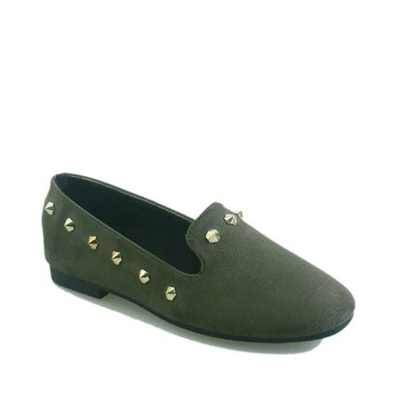 Hot New Style Fashion Rivet Flat Keel Moccasin-Gommino Women Shoe