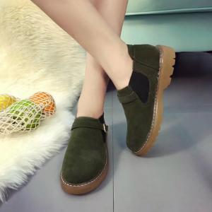 Peret New Style Fashion All-match Thick Round Bottom Short Canister Snow Boots -