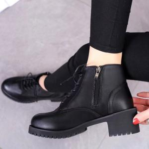 Winter New Style European and American Wind  Martin Boots Women's Fashion Short -