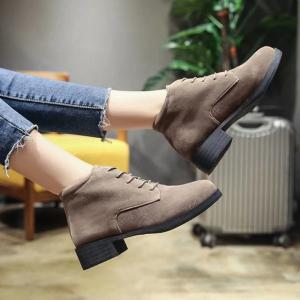 Autumn New Vintage Ball Peen Lace Girls Short Bare Boots -