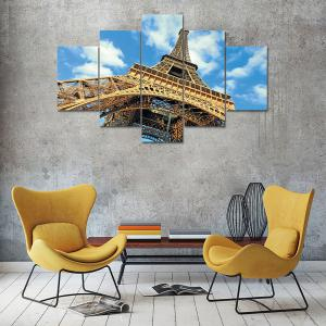 Amazing ... Eiffel Tower Canvas Print Painting Home Decoration Wall Art Picture 5  Panel   Part 30