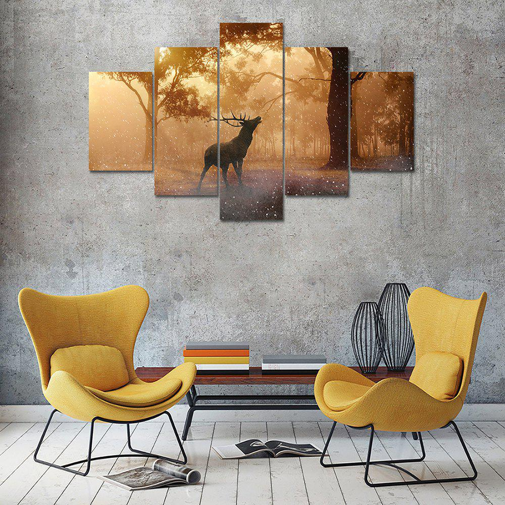 Latest Deer Tree Canvas Print Painting Home Decoration Wall Art Picture 5 Panel