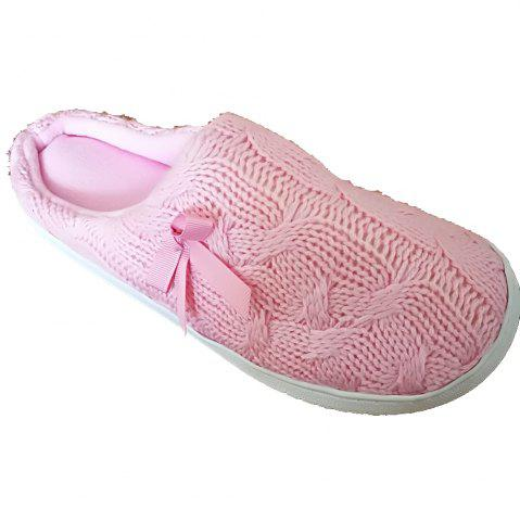 Outfit Women's  House Slippers with Cashmere Upper Fleece Lining and Anti-Slip Rubber Outsole