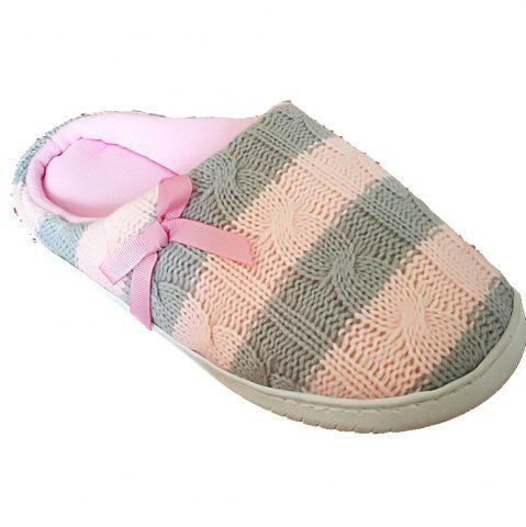 Latest Women's  House Slippers with Cashmere Upper Fleece Lining and Anti-Slip Rubber Outsole